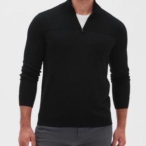 Banana Republic Premium Luxe Half Zip Sweater
